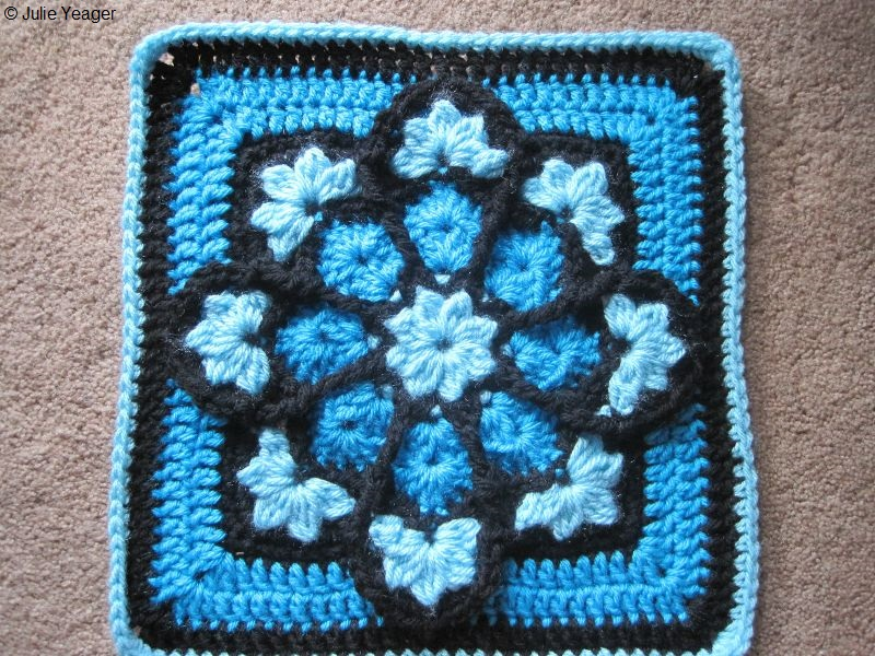 JulieAnny's Stained Glass Afghan Square Crochet Pattern