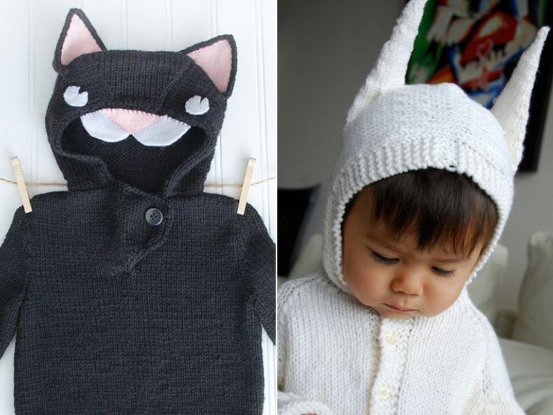 Knitted Animal Hoodies Free Patterns