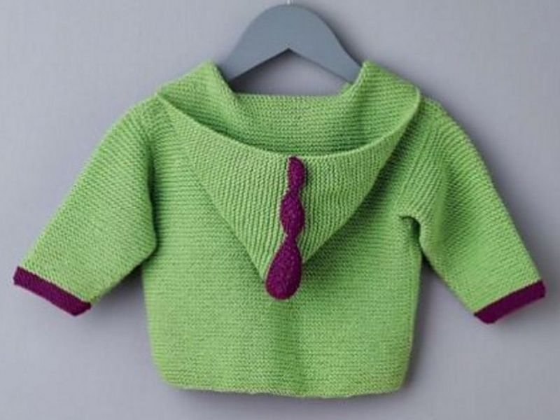 Knitted Baby Hoodies Free Patterns