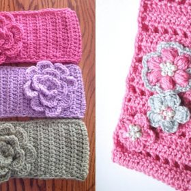 Flower Headbands Free Crochet Patterns