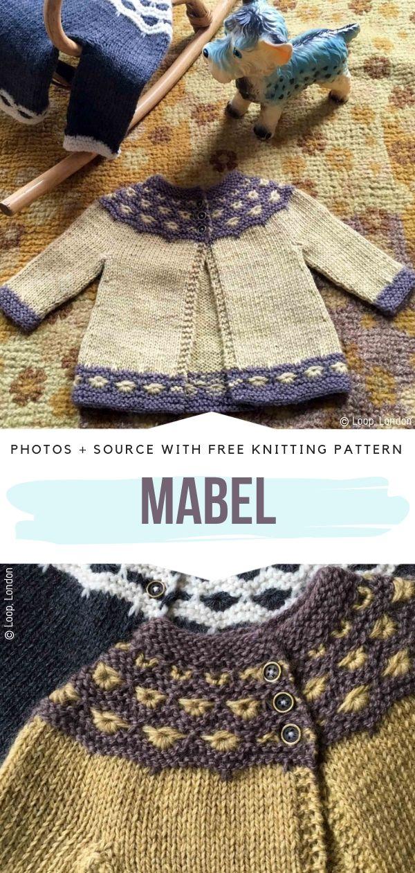 Adorable Baby Cardigan Mabel Free Knitting Pattern