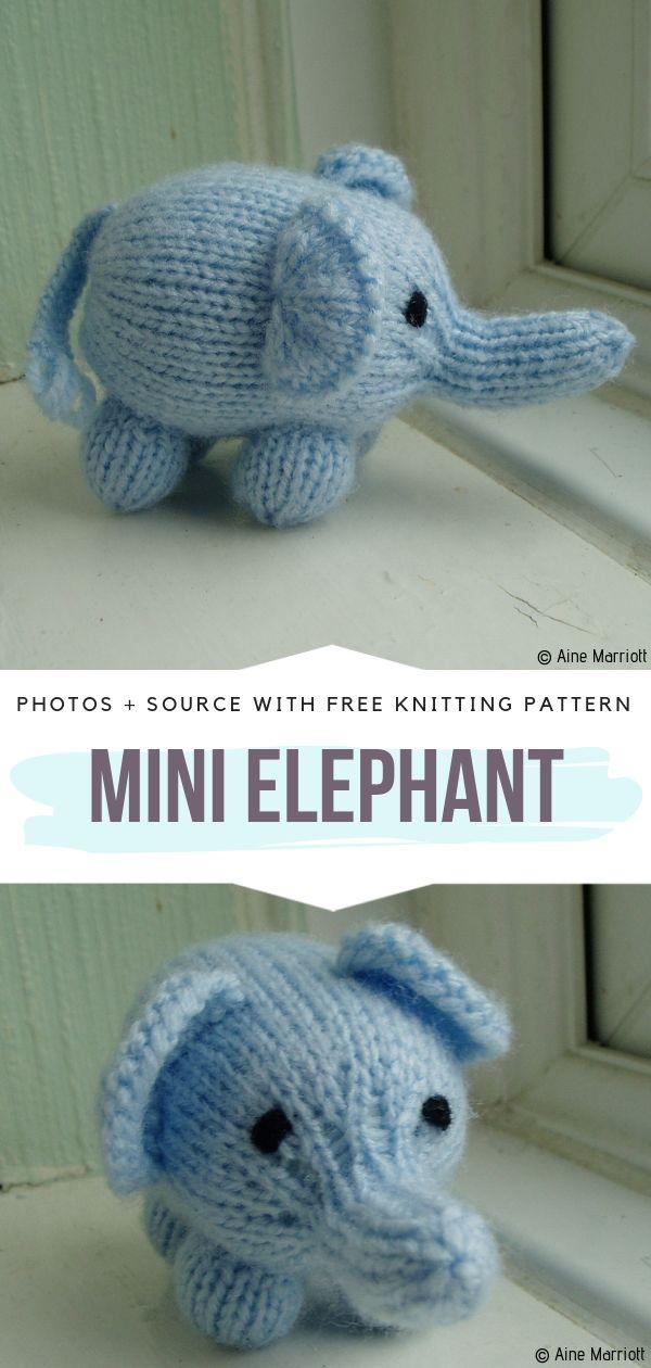 Mini Elephant Free Knitting Pattern