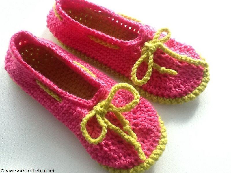 Mocassin Style - Slippers Free Crochet Pattern