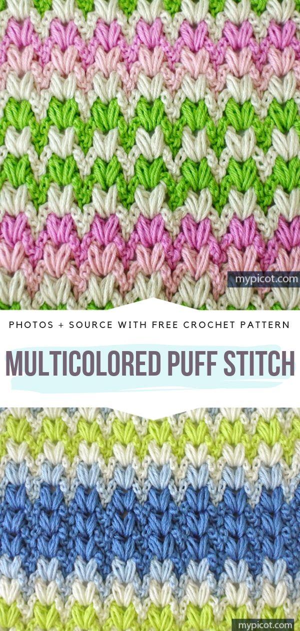 Multicolored Puff Stitch