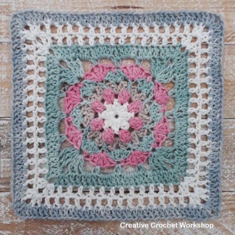 Olwen Afghan Square Free Crochet Pattern