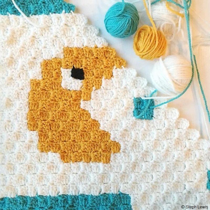 PacMan C2C Baby Blanket