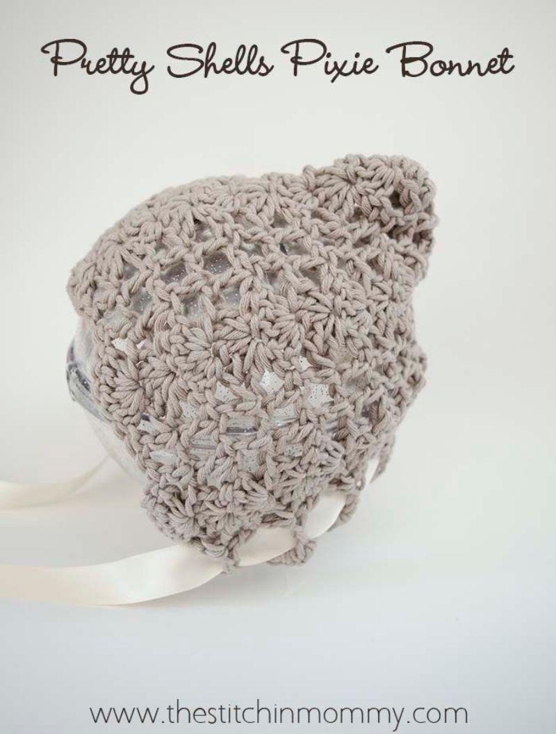 Shell Stitch Pixie Bonnet