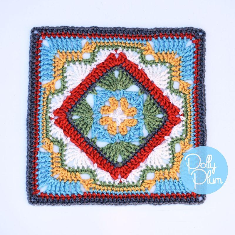 Beautiful Afghan Block Savannah Free Crochet Pattern