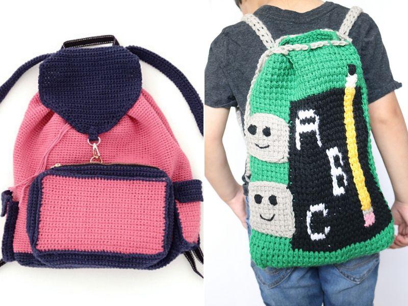 School Backpacks Ideas Free Crochet Patterns