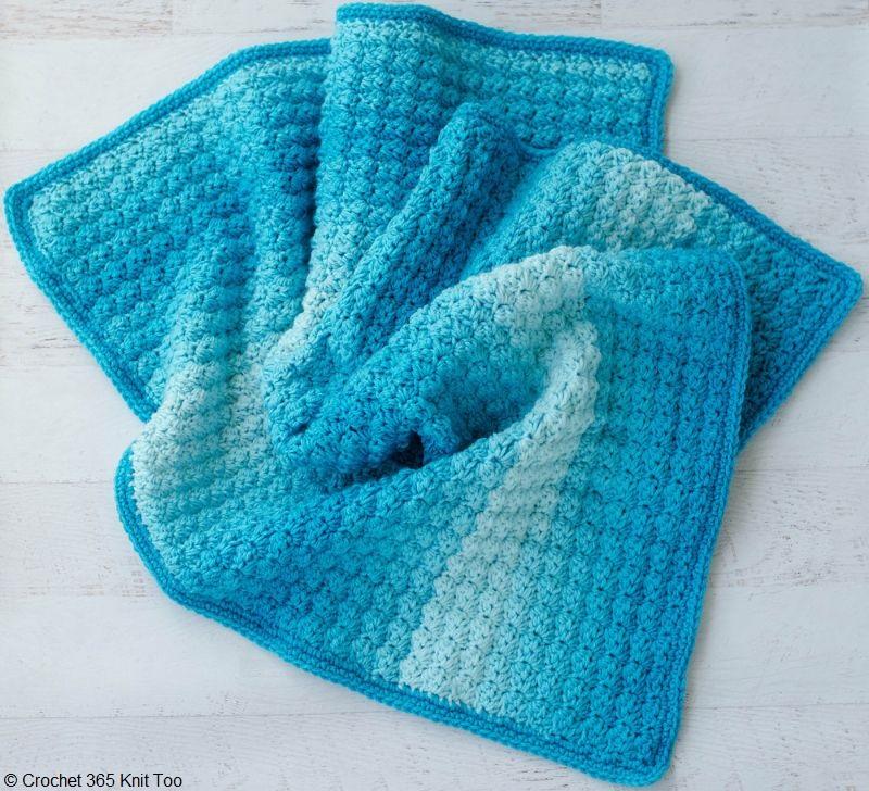 Sedge Stitch Baby Afghan
