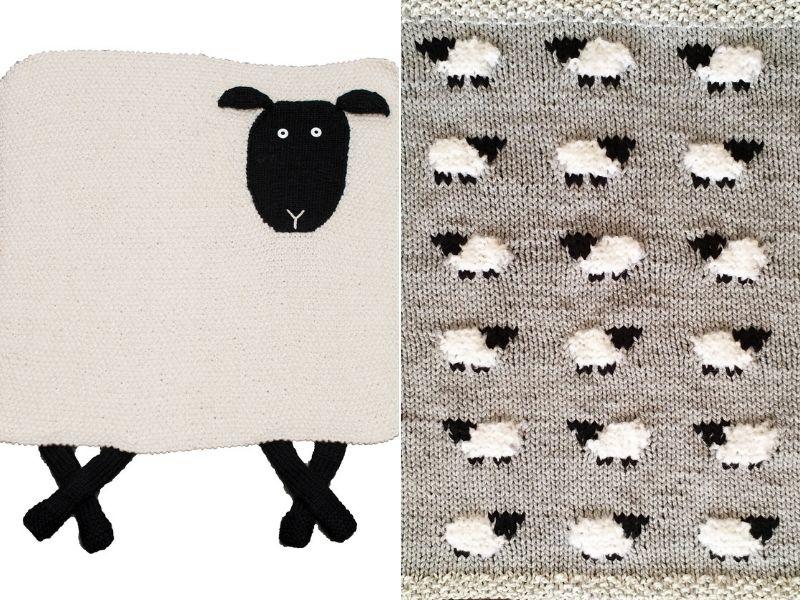 Sheep Baby Blanket Ideas Free Knitting Patterns
