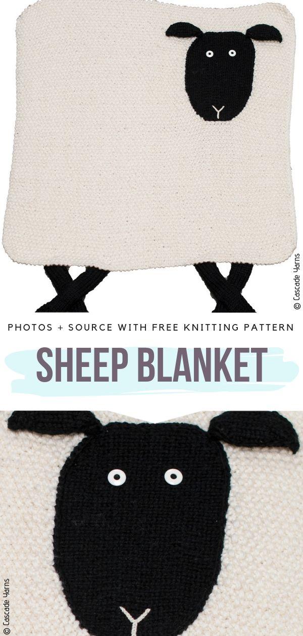 Sheep Blanket Free Knitting Pattern