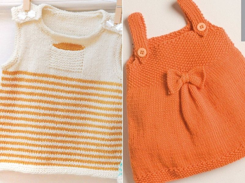Simple Knitted Baby Dresses Free Patterns