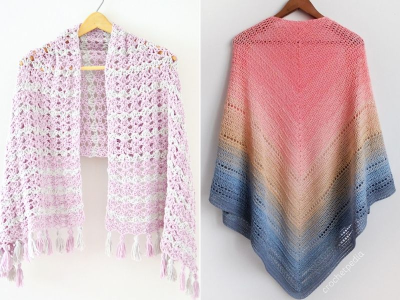 Simple Lightweight Shawls Free Crochet Patterns