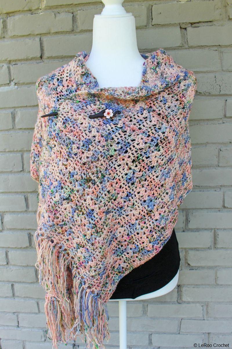 Snapdragon Shawl Free Crochet Pattern