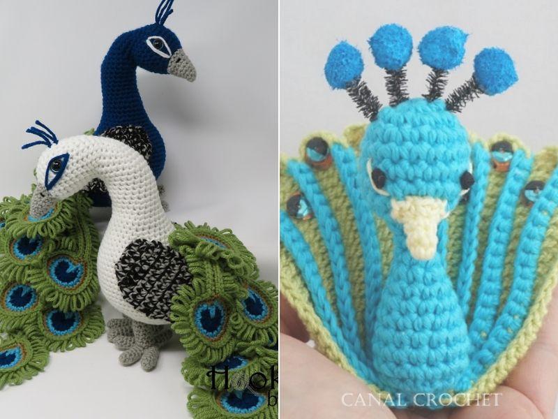 Splendid Paecock Amigurumi Free Crochet Patterns