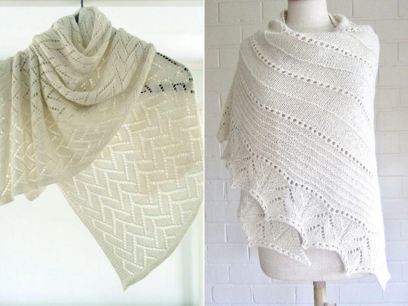 Stunning White Knitted Shawls Free Patterns