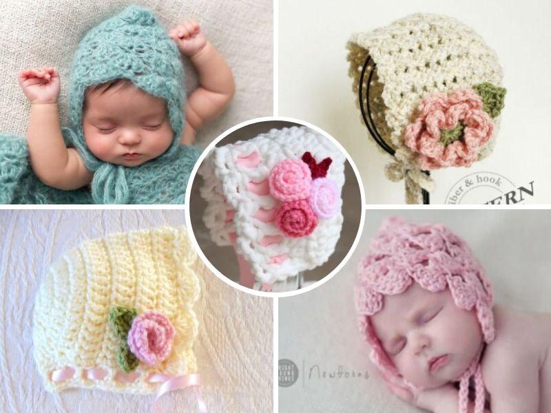 sweet-baby-bonnets-free-crochet-patterns