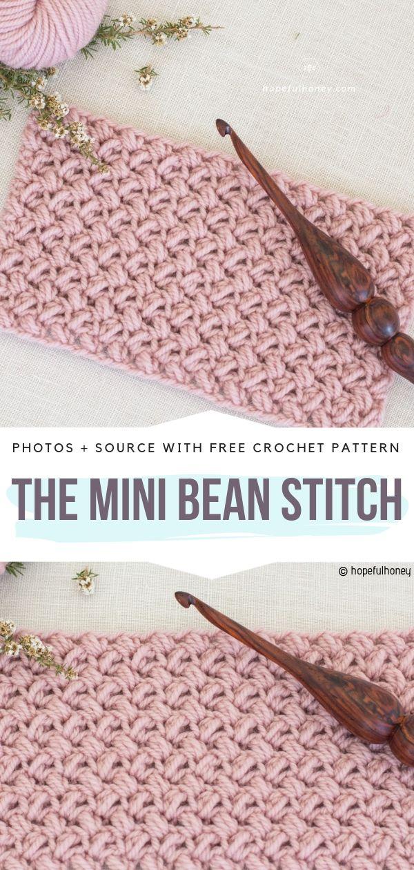 The Mini Bean Stitch Free Crochet Pattern