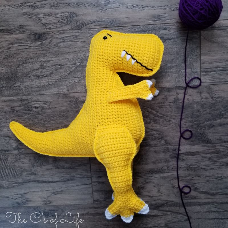 Tobie the T- Rex Free Crochet Pattern