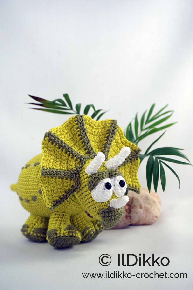 Trevor the Triceratops Crochet Pattern