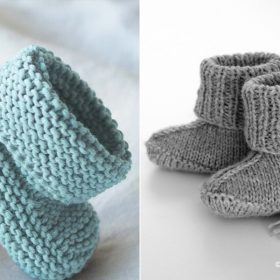 Adorable Baby Booties with Free Knitting Patterns