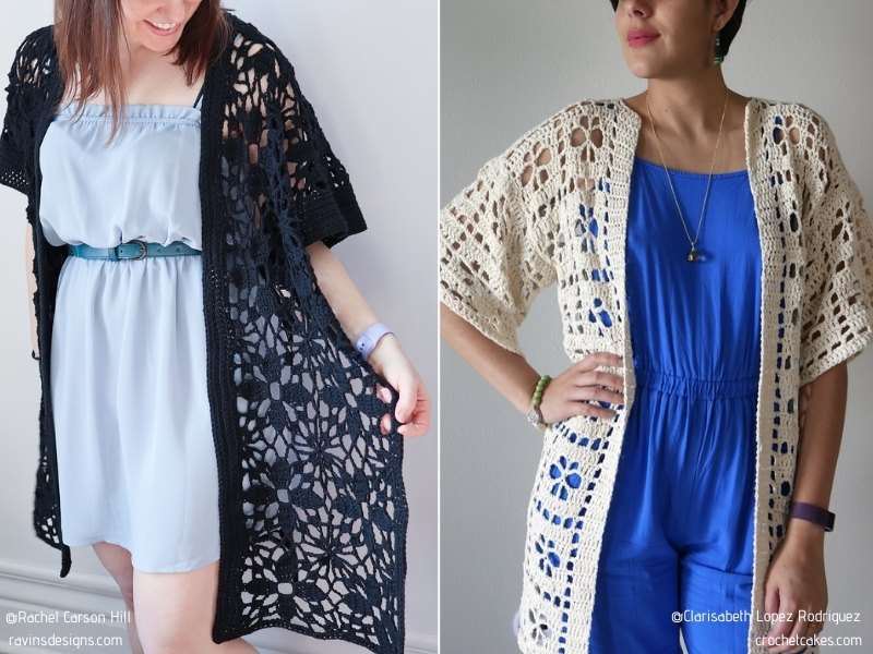 Chic Lacy Cardigans Free Crochet Patterns
