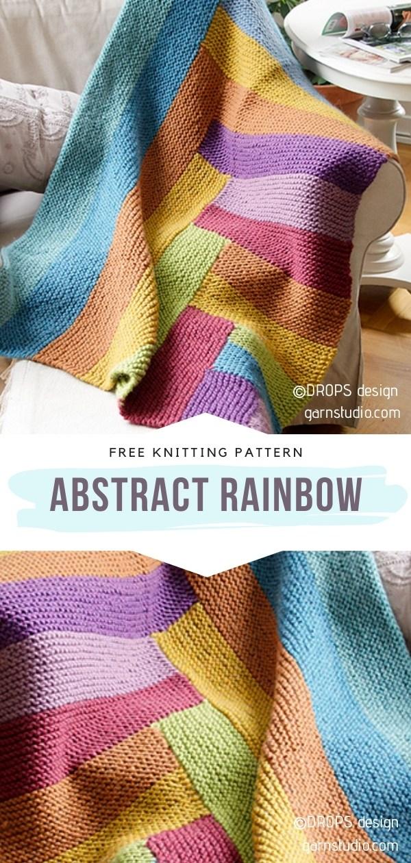 Rainbow Throw Knitting Pattern