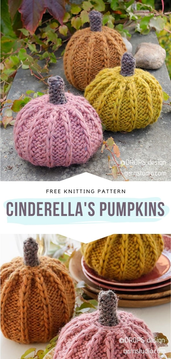Knitted Pumpkin Softies Ideas with Free Patterns
