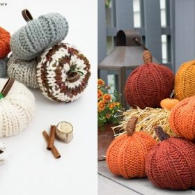 Knitted Pumpkin Softies - Ideas and Free Patterns