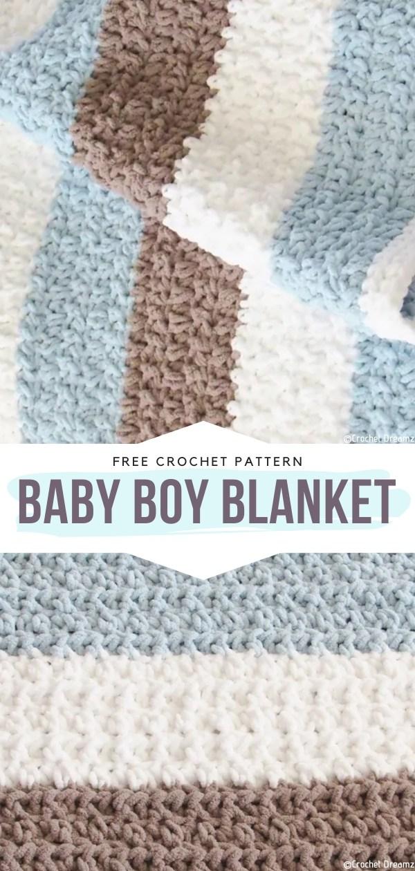 Baby Boy Blanket Free Crochet Patterns