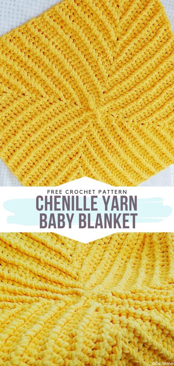 Chenille Yarn Baby Blanket Free Crochet Pattern