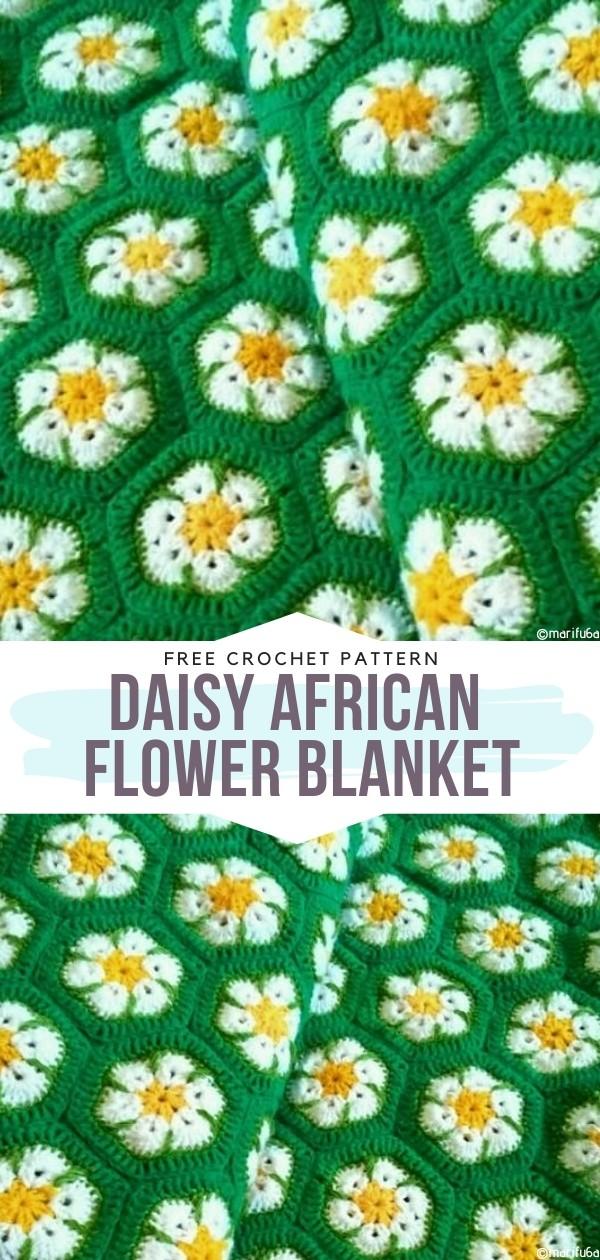 Daisy African flower blanket