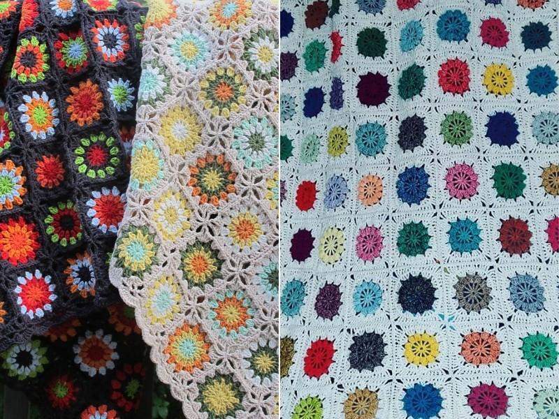 Delightful Flower Afghans Free Crochet Patterns