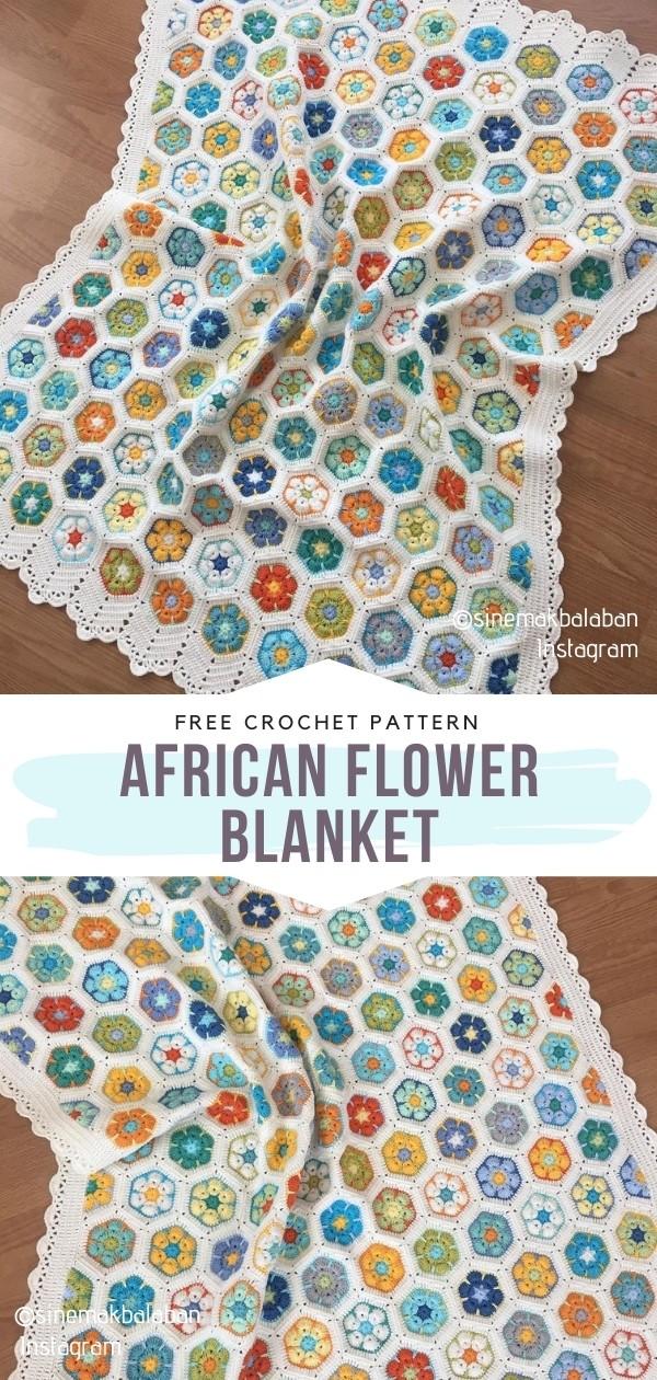 Crochet African Flower Blanket