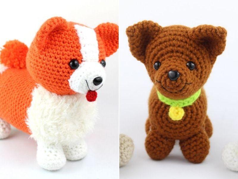 Adorable Dogs amigurumi Free Crochet Patterns