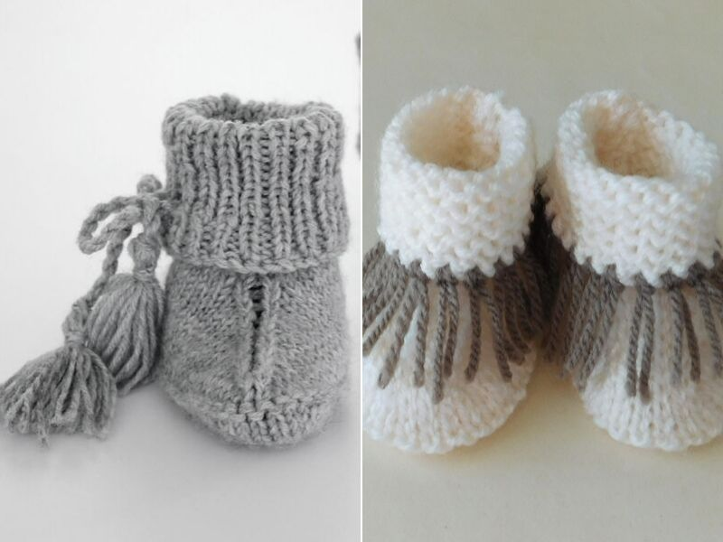 Adorable Knitted baby Booties Free Patterns