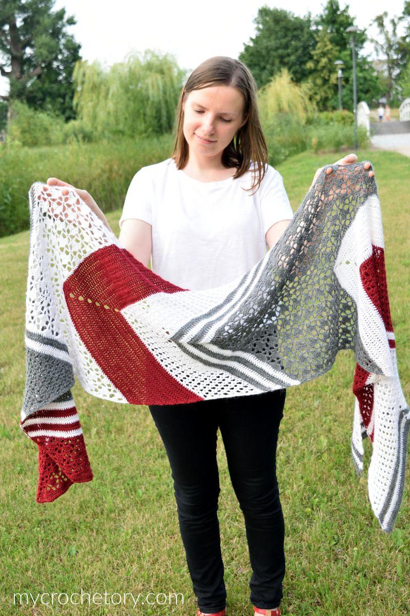 Arrow Wrap Free Crochet Pattern