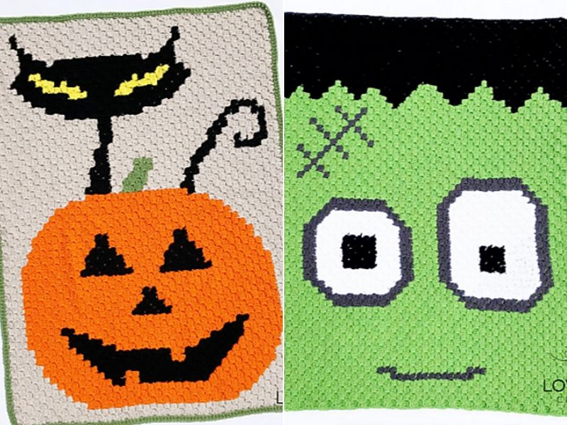 Awesome Halloween C2C Blankets Free Crochet Patterns