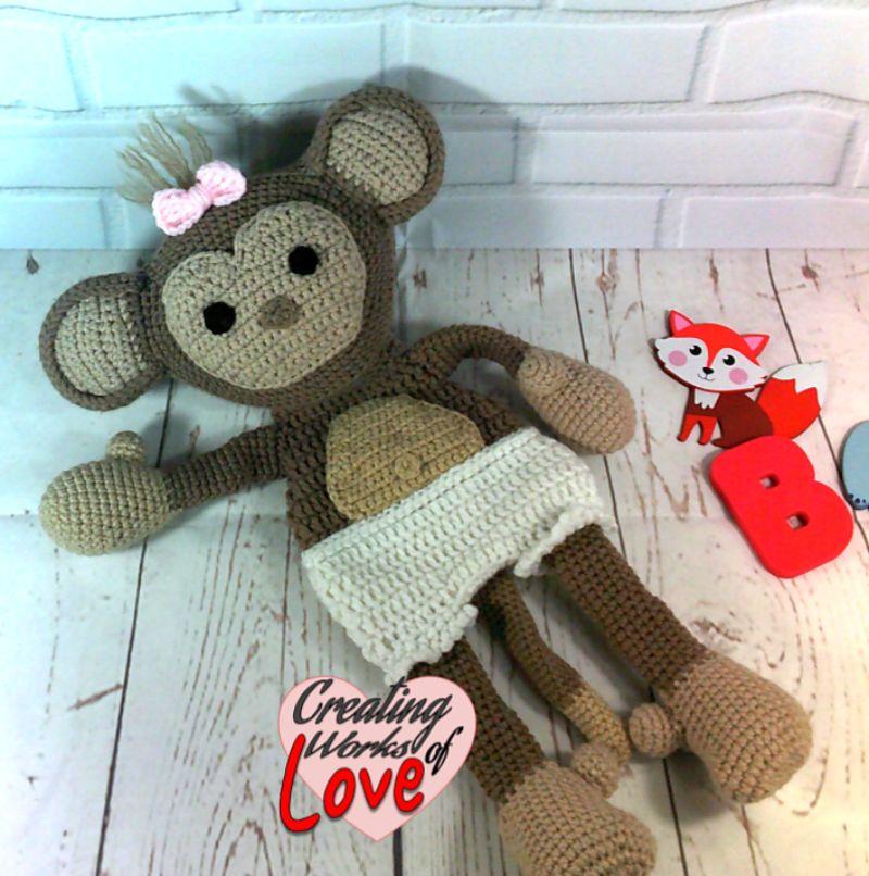 Baby Monkey Ragdoll Lovey