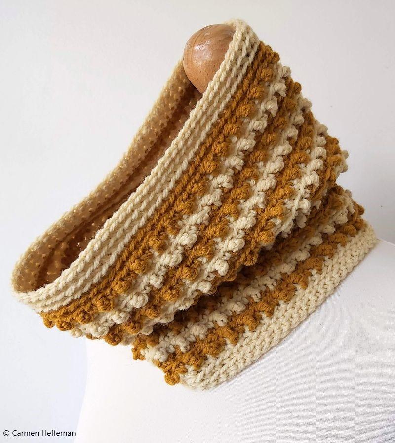 Blackberry Cowl Free Crochet Pattern
