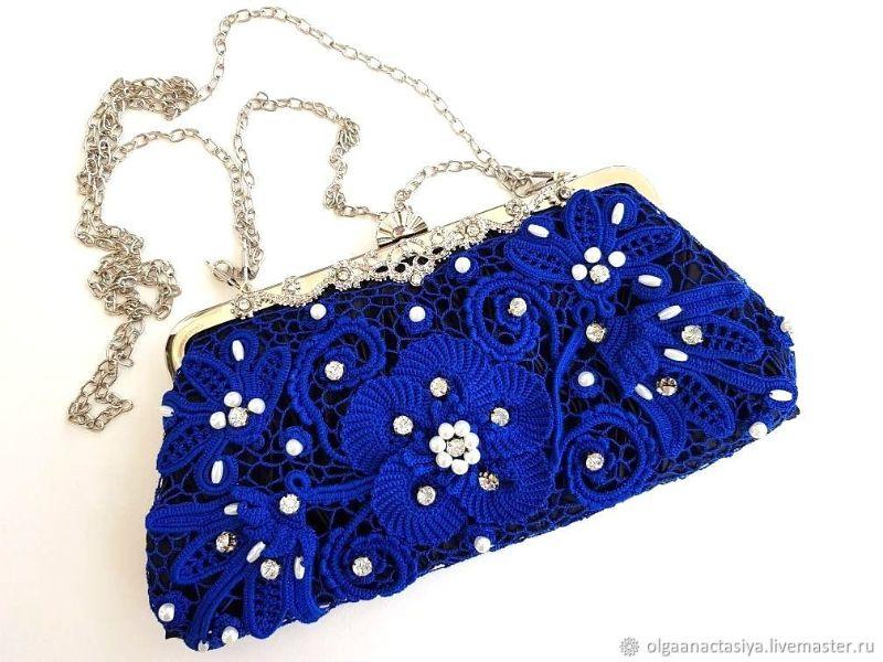 Blue Clutch Crochet Pattern