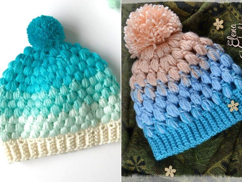 Bobbly Beanie Hats Free Crochet Patterns