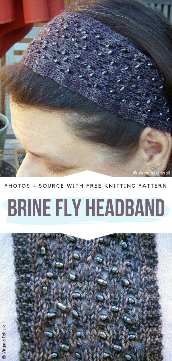 Brine Fly Headband Free Knitting Pattern