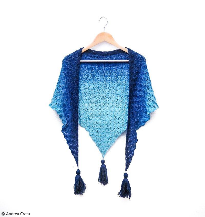 Lovely Shawl Callatis Free Crochet Pattern