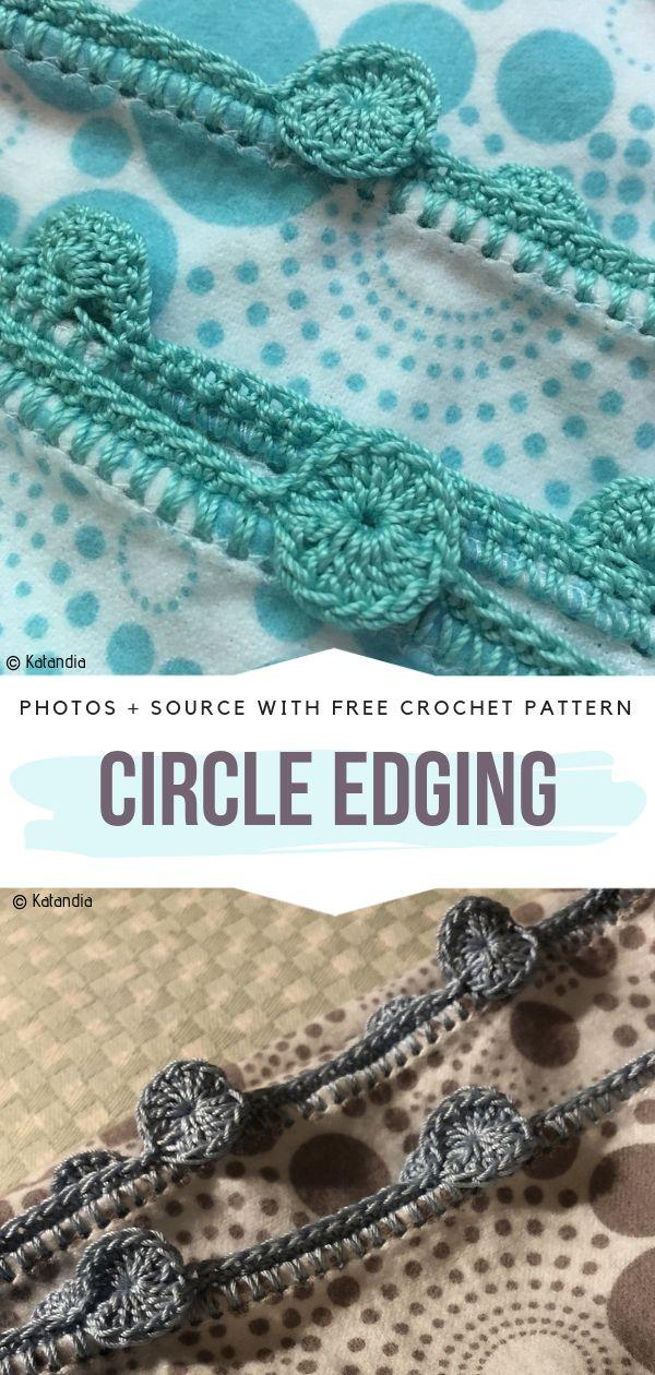 Circle Edging Free Crochet Pattern