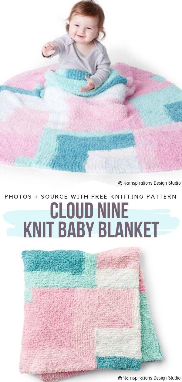 Cloud Nine Knit Baby Blanket Free Pattern