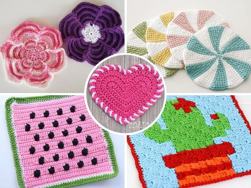 Colorful Crochet Dishcloths