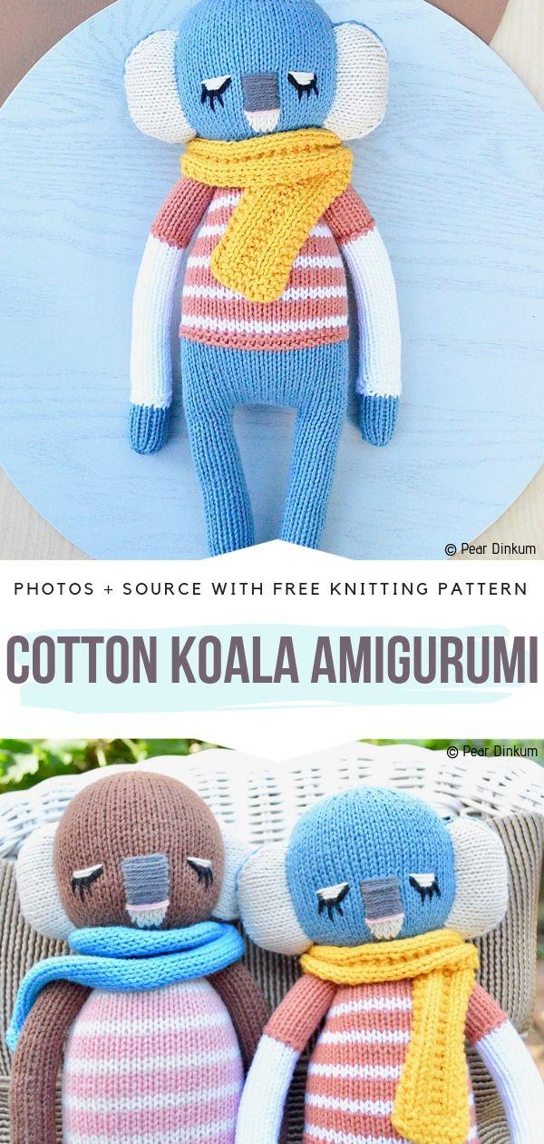 Cotton Koala Amigurumi Free Knitting Pattern