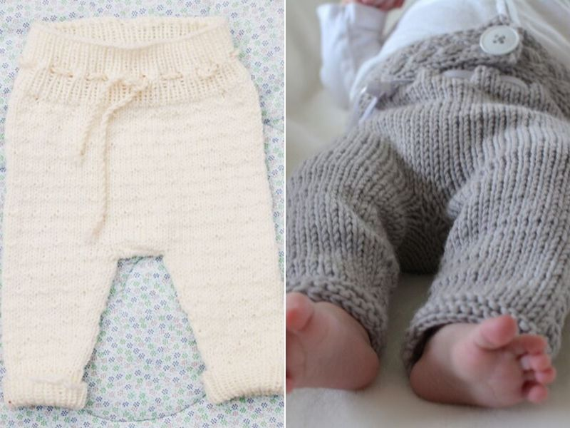 Cozy Knitted Baby Pants Free Patterns
